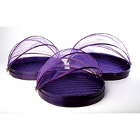 Bamboo Food Protector - Set of 3 - Purple