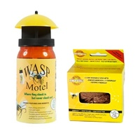Wasp Motel - Non Toxic Wasp trap With Bait & 10 Pack Refill