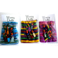 Guatamalan Worry Dolls - 6 DOLL BAG - Pack of 3