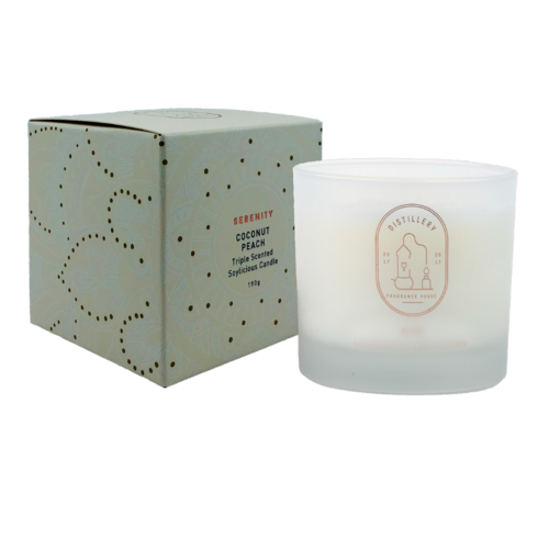 Distillery Soy Candle 190g SERENITY Coconut Peach