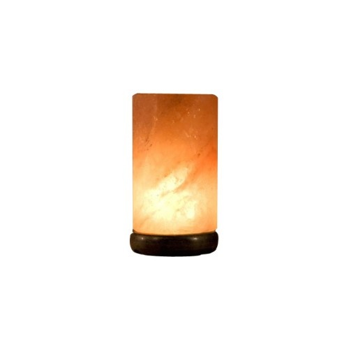 Himalayan Salt Lamp CYLINDER Wood Base